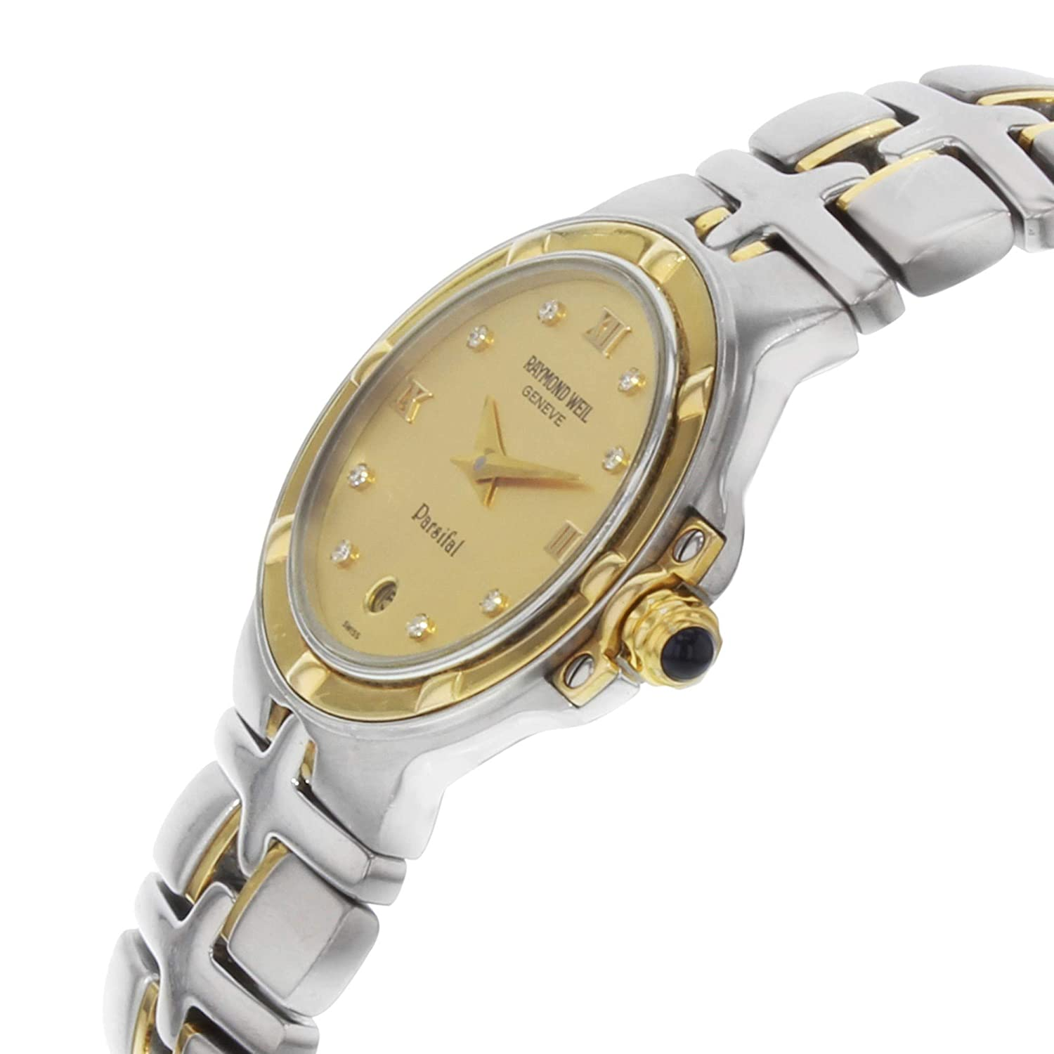 Amazon.com: Raymond Weil Parsifal Quartz Female Watch 9990-CH (Certified Pre-Owned): Raymond Weil: Watches