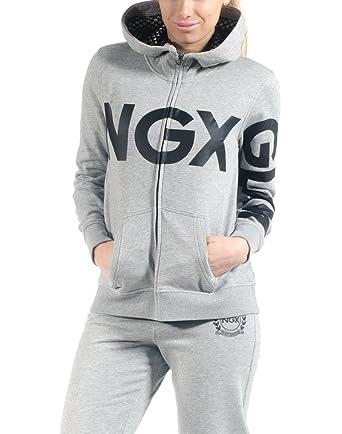 NGX Womens Chaqueta Report Zip-Up Hoodie, Grey, Small
