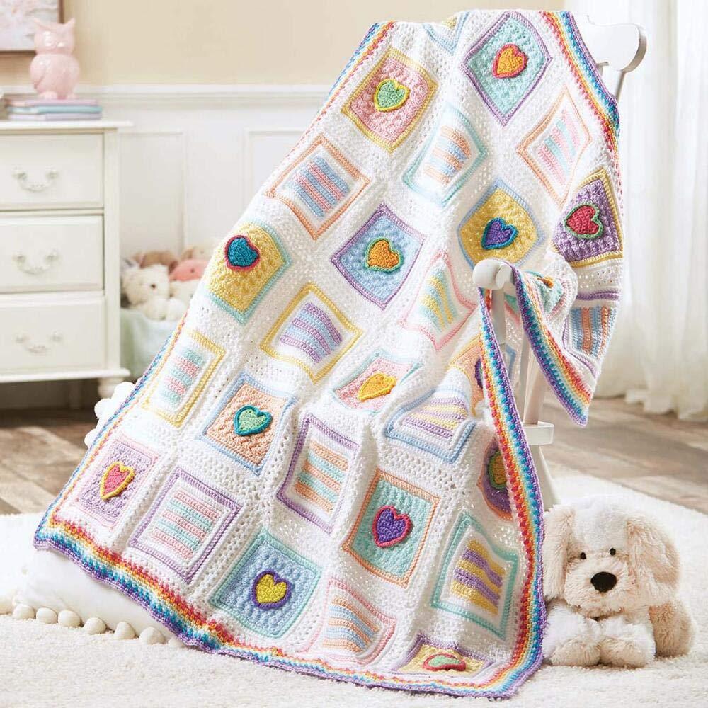 Herrschners® Candy Hearts Baby Afghan Crochet Yarn Kit