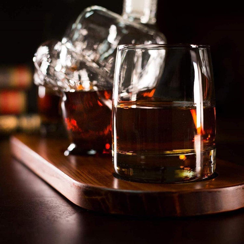 Decantador de whisky con diseño de dedo medio, 2 vasos y base ...