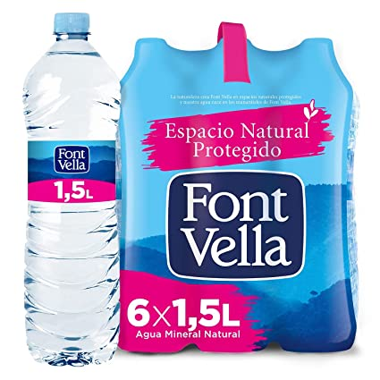 Font Vella Agua Mineral Natural - Pack 6 x 1,5L: Amazon.es ...