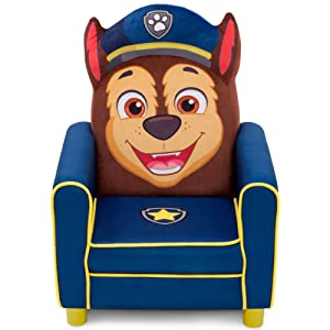 Delta Children Figural Upholstered Kids Chair, Nick Jr. PAW Patrol Chase, Blue