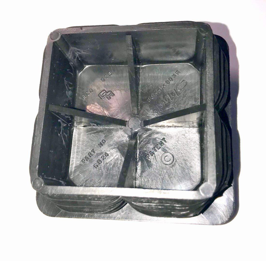 """3/"""" Square 6-11 Ga - ID 2.594/"""" - 2.76/"""" Heavy Duty 80 x 80 MM OD Plastic Plugs"""