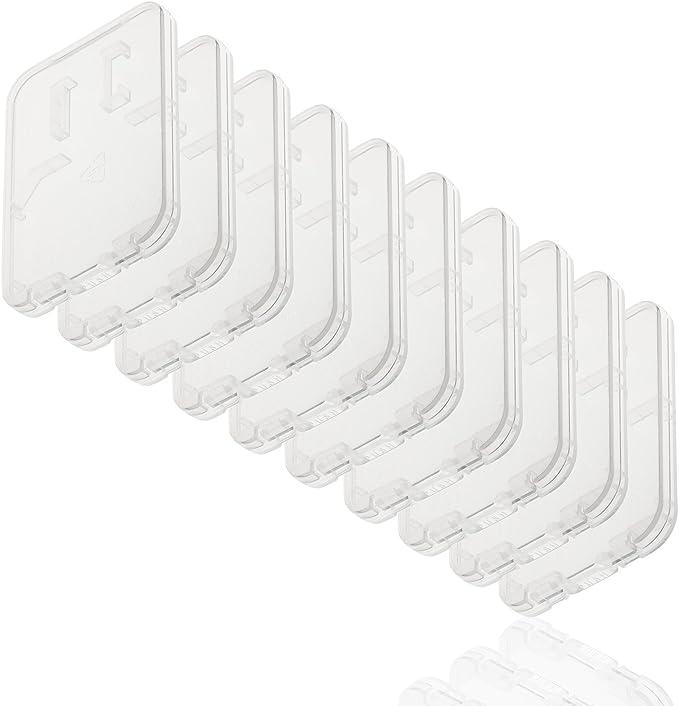 Caja de almacenamiento de tarjeta de memoria de ajuste perfecto para hasta 4x tarjetas SD//MicroSD//MMC