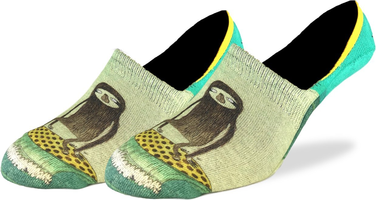 Good Luck Sock Men'S Surfing Sloth No Show Invisible Socks, Shoe Size 7-12 -