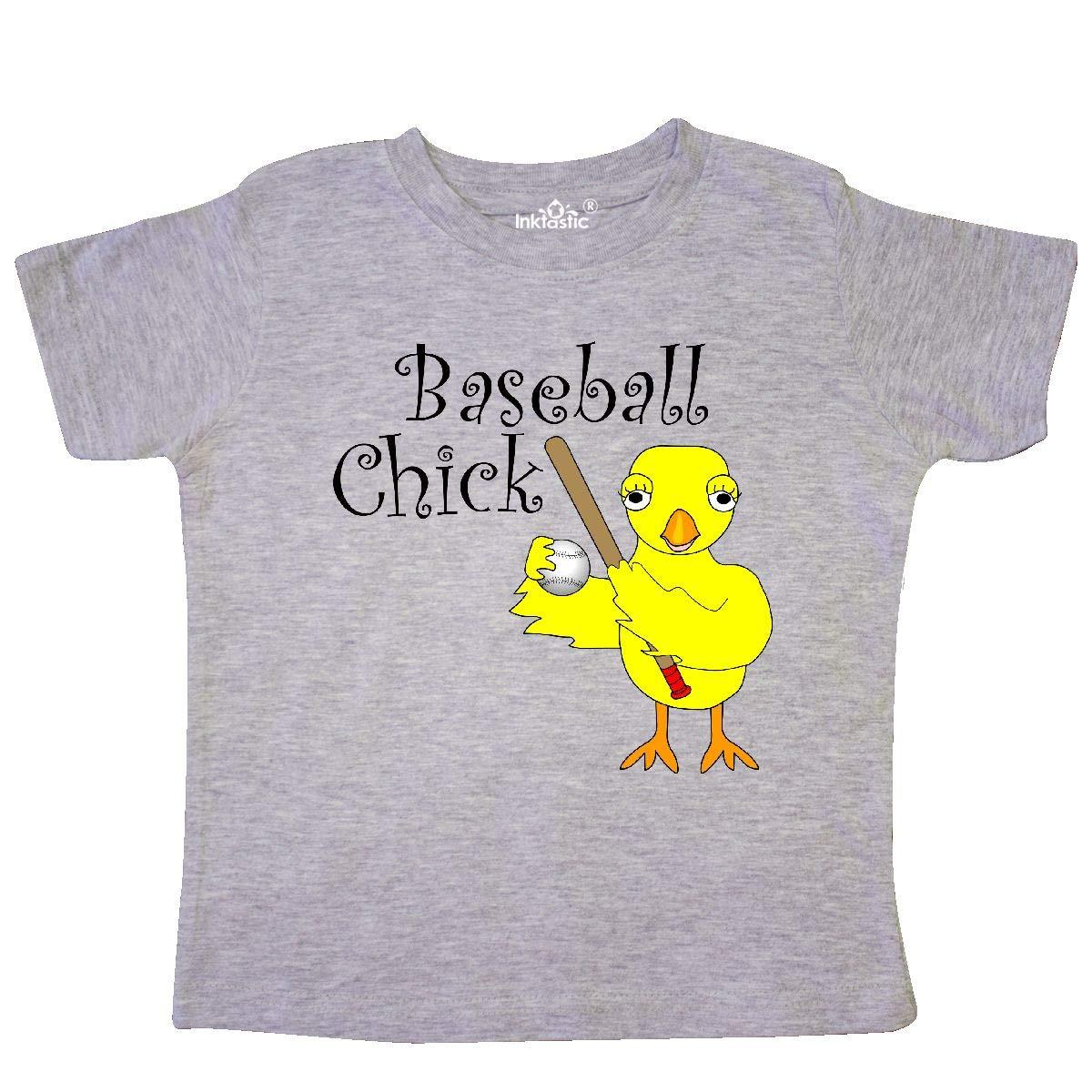 inktastic Baseball Chick Text Toddler T-Shirt