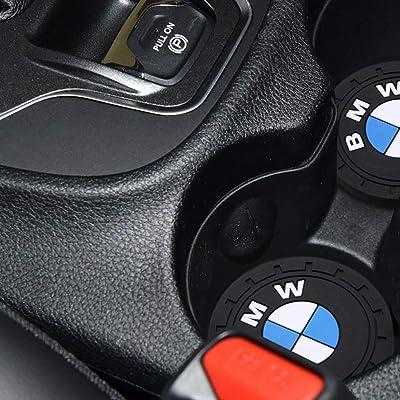 "4Car4U for BMW Cup Holders Insert Coaster Automotive Accessories Fits BMW 2 3 4 5 6 7 8 X1 X2 X3 X4 X5 X6 X7 Z4 M i3 i8(2.75"" Diameter-2PCS): Automotive"