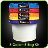 Bubblebagdude Bubble Sacs 5Gallon 5Ensemble de sacs–Herbal Ice Sac à bulles Essence Extracteur kit–Livré avec pression sur écran et sac de rangement