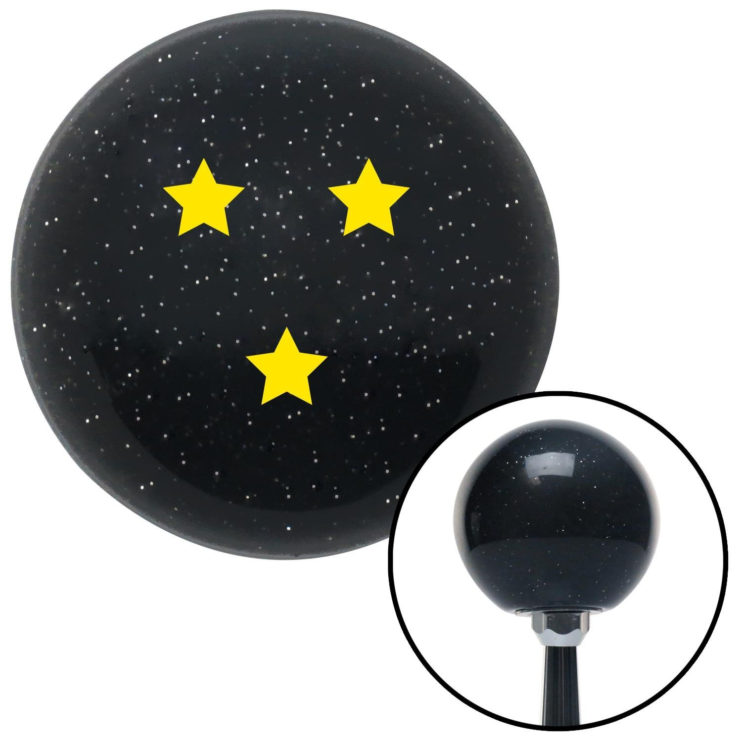 American Shifter 141952 Black Metal Flake Shift Knob with M16 x 1.5 Insert Yellow Dragon Ball Z - 3 Star