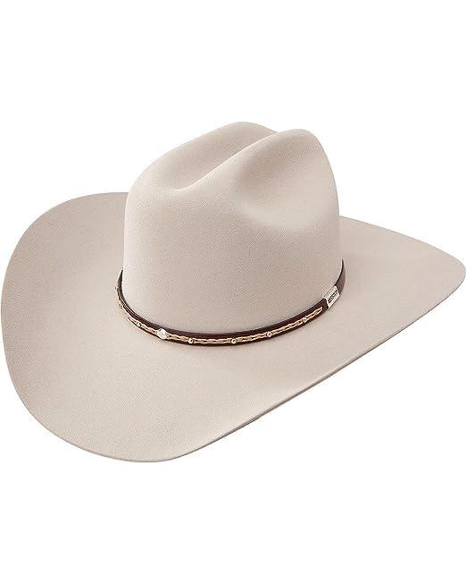 2767ce83 Resistol Men's George Strait 6X Reata Fur Felt Cowboy Hat Silverbelly 7 ...