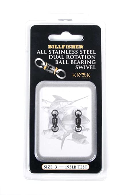 f6723c0f94a639 Image Unavailable. Image not available for. Color  KROK KBBS195-2-Pack  Stainless Bal-Poundearing Swivels Dual Rotation ...