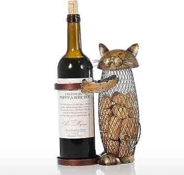 Soporte para vino de Tooarts, diseño de escultura de metal, decoración de interior para el hogar: Amazon.es: Hogar