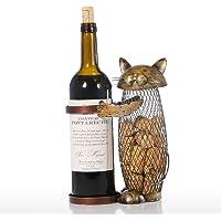 TOOARTS Supporto per Vino, Motivo Scultura in Metallo, Decorazione di Interni per El Hogar