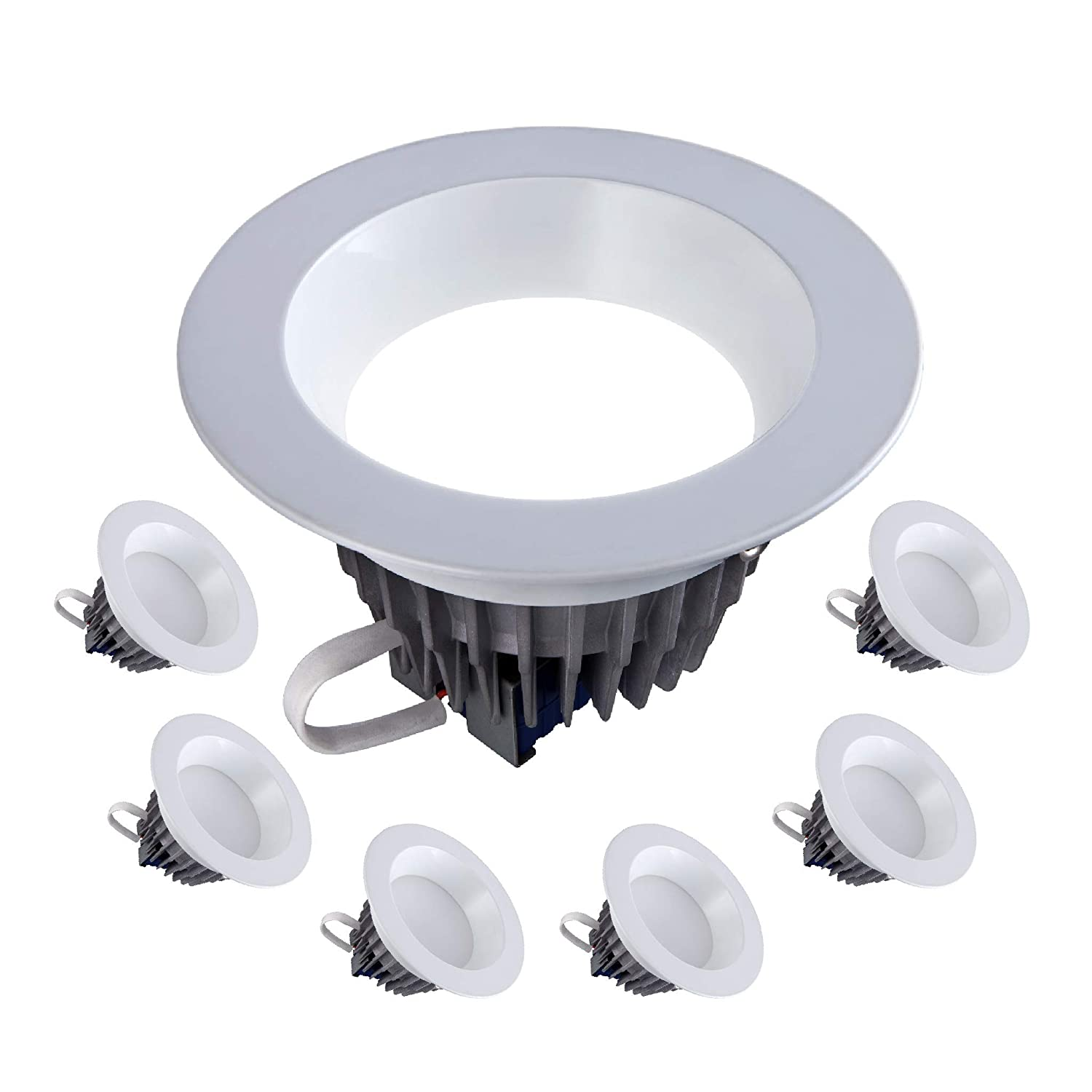 120V-277V; 1500 Lumens; Dimmable; 50,000 Life Hours; Wet Location Rated; Fits 6 Inch Recessed Can; UL//Energy Star; 6 Inch LED Downlight 18W= 120W Equivalent 3000K- 6 Pack