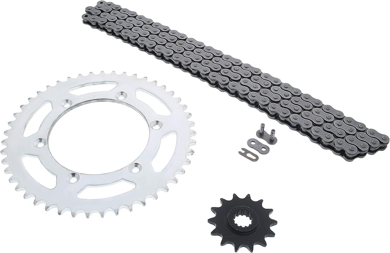 Black O-Ring Drive Chain /& Sprocket Kit Fits SUZUKI DR-Z400E 2000-2007