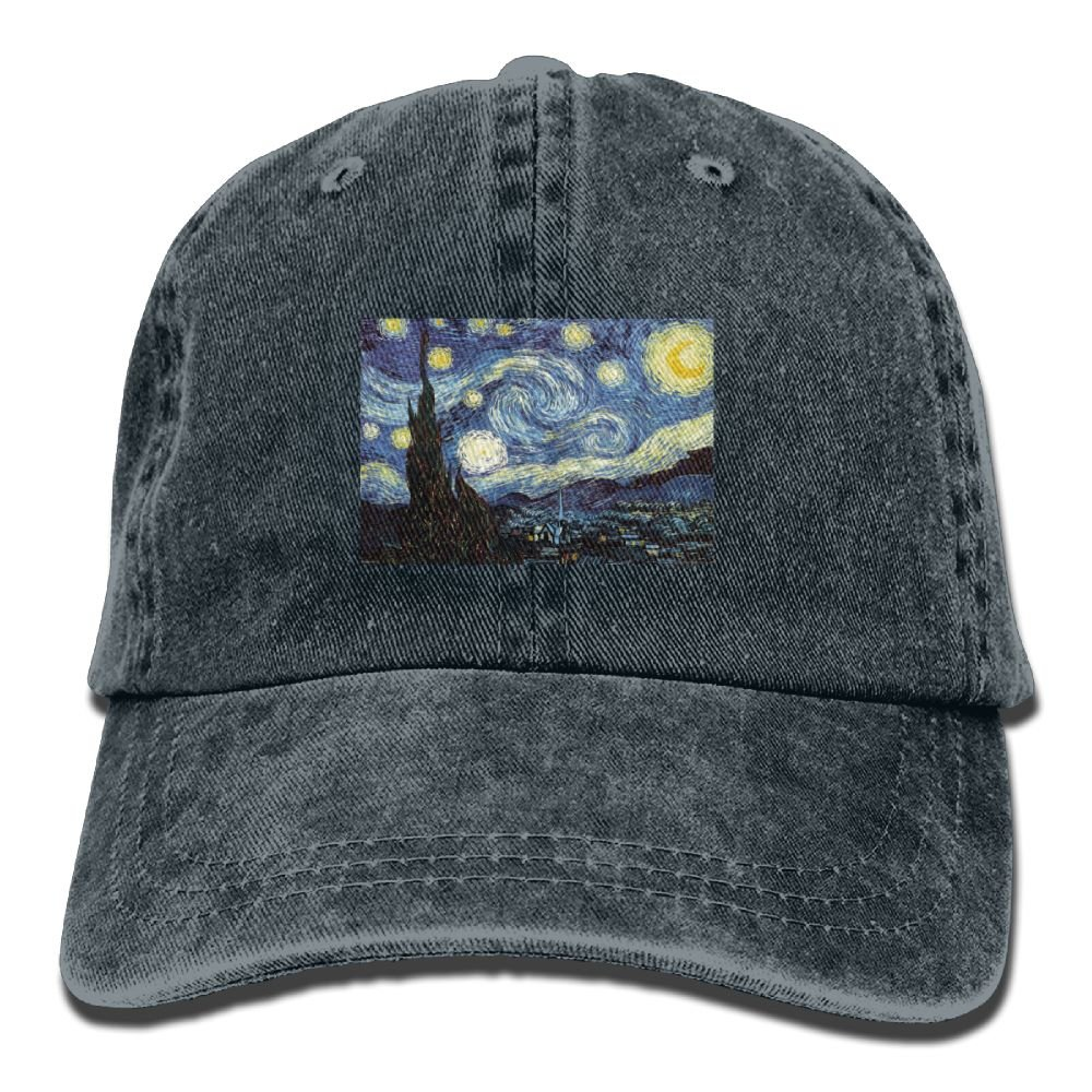Van Gogh Painting Adult Sport Adjustable Structured Baseball Cowboy Hat