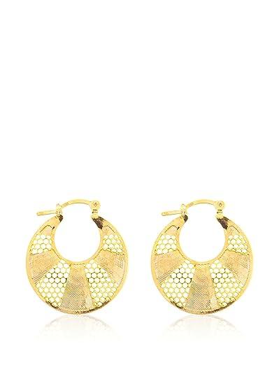 Córdoba Jewels | Pendientes en goldfilled laminado de oro 14/20. Diseño Aro Filigrana Diamantado: Amazon.es: Joyería
