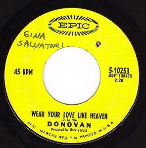 Wear Your Love Like Heaven/Oh Gosh (VG- 45 rpm)