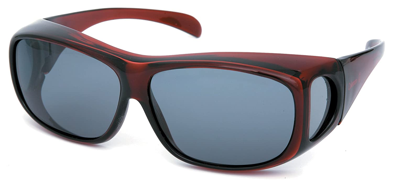 コールマン メガネの上から掛けられるオーバーサングラス 偏光レンズ クリアワイン CO3012-3