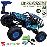 Smart Picks 4WD Remote Controlled Rock Crawler RC Monster Truck, Fig Foot Oversize Tires Off Road Truck, 1:10 Scale Dirt Drift Waterproof