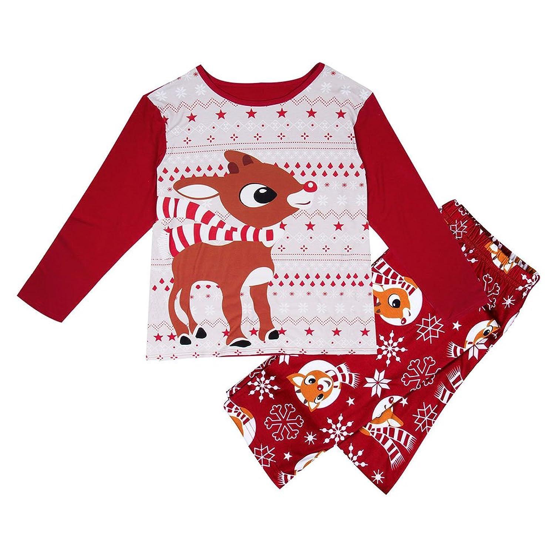 Adulte femmes enfants vêtements de nuit hibote noël famille pyjamas match