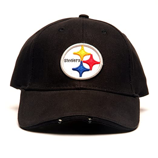 Amazon.com   NFL Pittsburgh Steelers Dual LED Headlight Adjustable Hat    Lighted Baseball Caps   Clothing aba5e3777