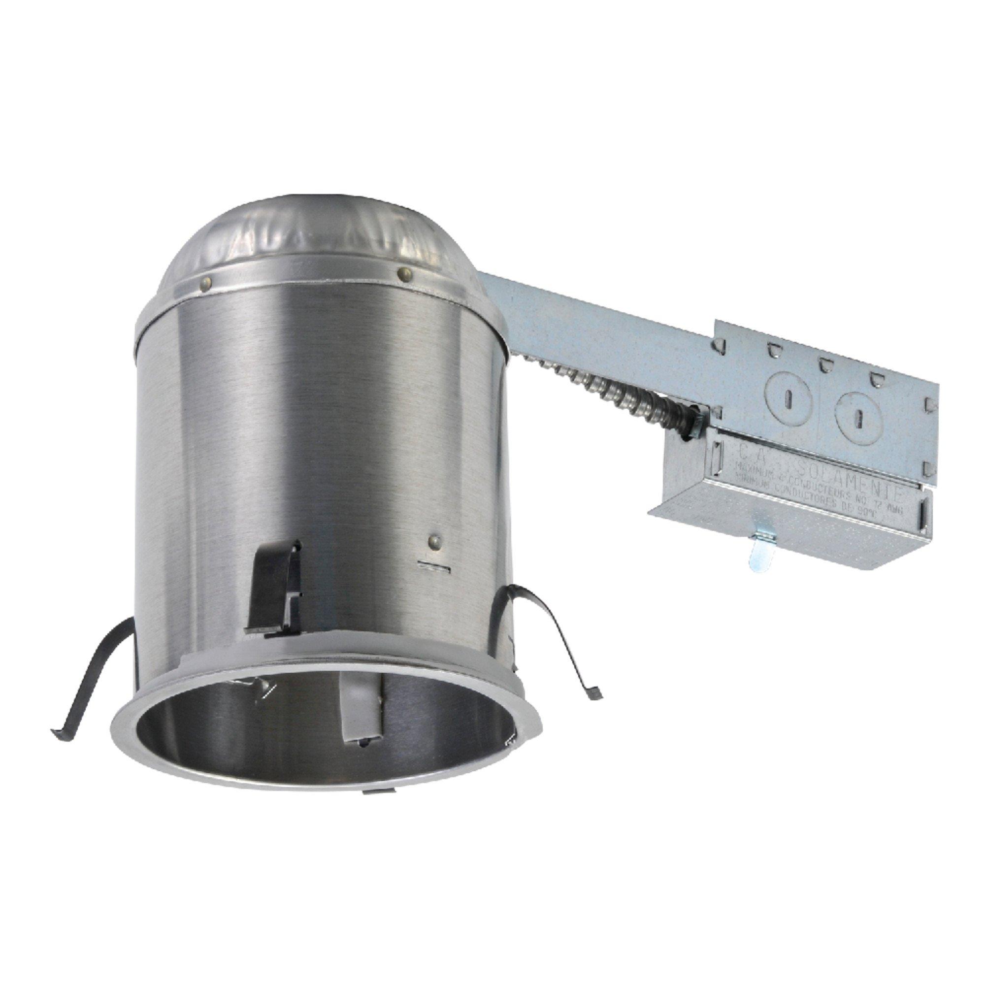 Halo H5RICAT Recessed Lighting Remodel IC Air-Tite Housing, 5 In, Aluminum