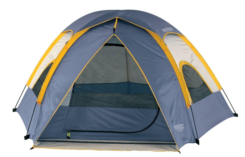ヴェンツェル(Wenzel)  アルペン 3ポール3人用 ペンタ ドームテント 8.5 X 8-Feet Dome Tent (Light Grey/Blue/Gold) [並行輸入品]   B00V8A5V3M