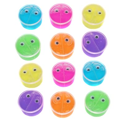 SN Incorp. Mini Amoeba Putty for Party Favors and Prizes - Assorted Color Putty - Pack of 12 Putty Slime for Kids: Toys & Games