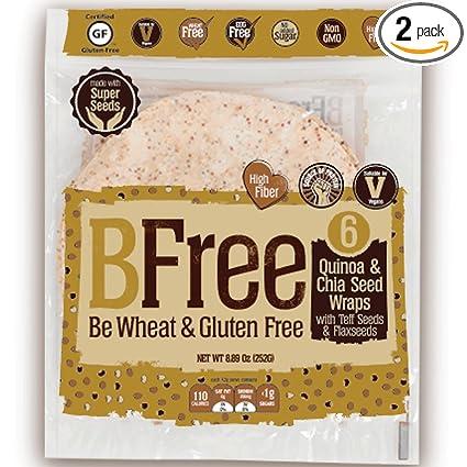 BFree sin gluten Tortilla Wrap 8 pulgadas Quinoa y Chia Seed ...