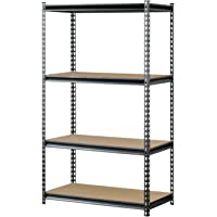Muscle Rack UR361860PB4P-SV 4-Shelf Vein Steel Storage Rack (Silver)