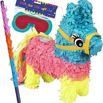 Kinder-Party: Juego de piñata con máscara y Raqueta de ...