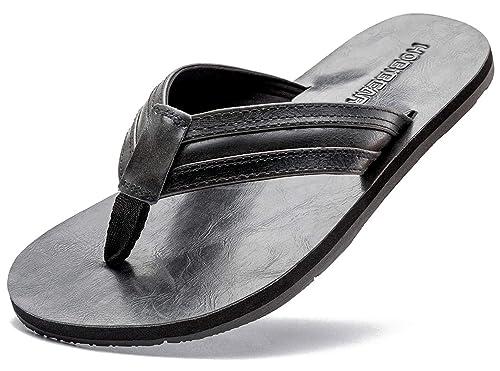350772d13f0e GUBARUN Mens Flip Flop Sandals Thong Indoor and Outdoor Beach Slippers