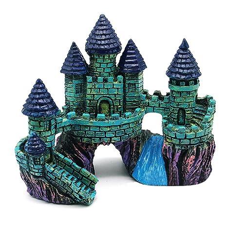 luyide resina de Fish Tank Acuario accesorios adorno decoración castillo