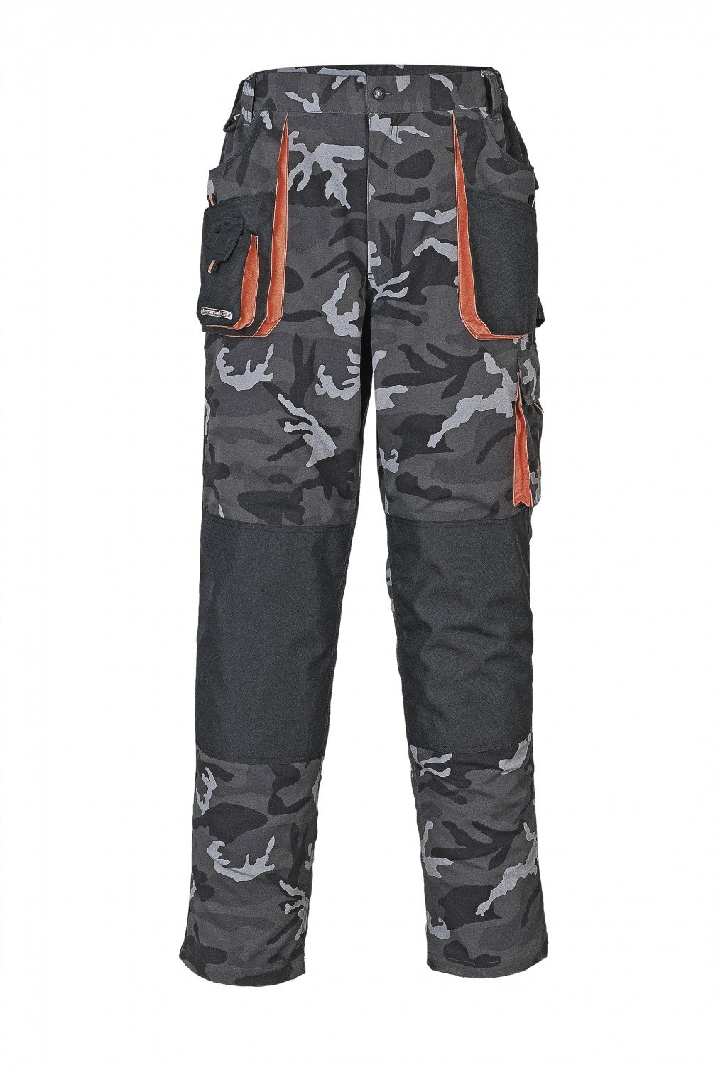 Terratrend Job 3230-64-6210 Size 64 Men's-Trousers - Camouflage/Grey/Black