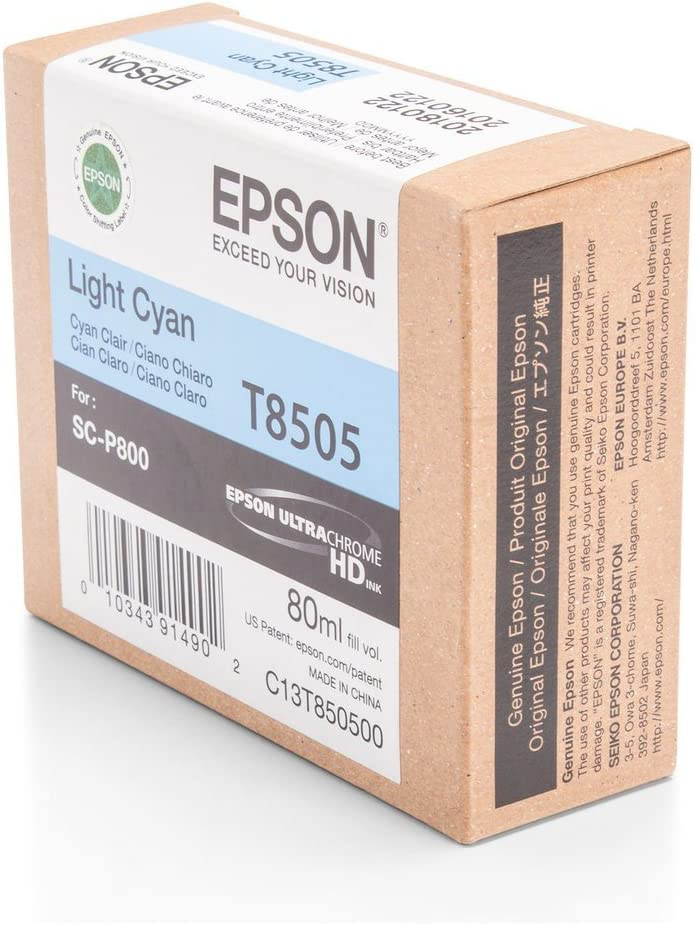 Epson T850500 - Cartucho de tinta, color cian, Ya disponible en Amazon Dash Replenishment