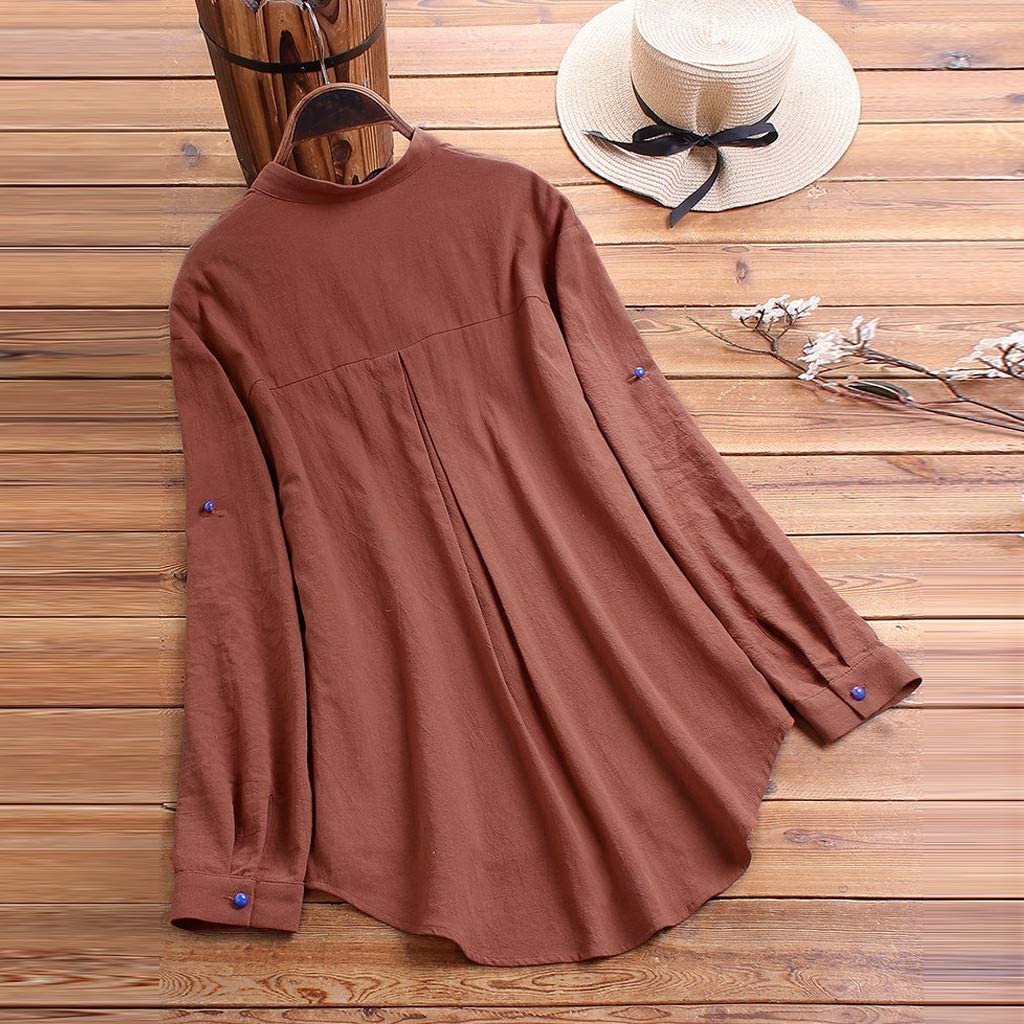 Dainzusyful Women Casual Cat Print Long Sleeve Blouse Colorful Button Down Shirt Top Blouse Plus Size Tunic