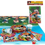 Disney - Pack de fiesta reciclable Mickey: mantel, platos, vasos, servilletas (71917)