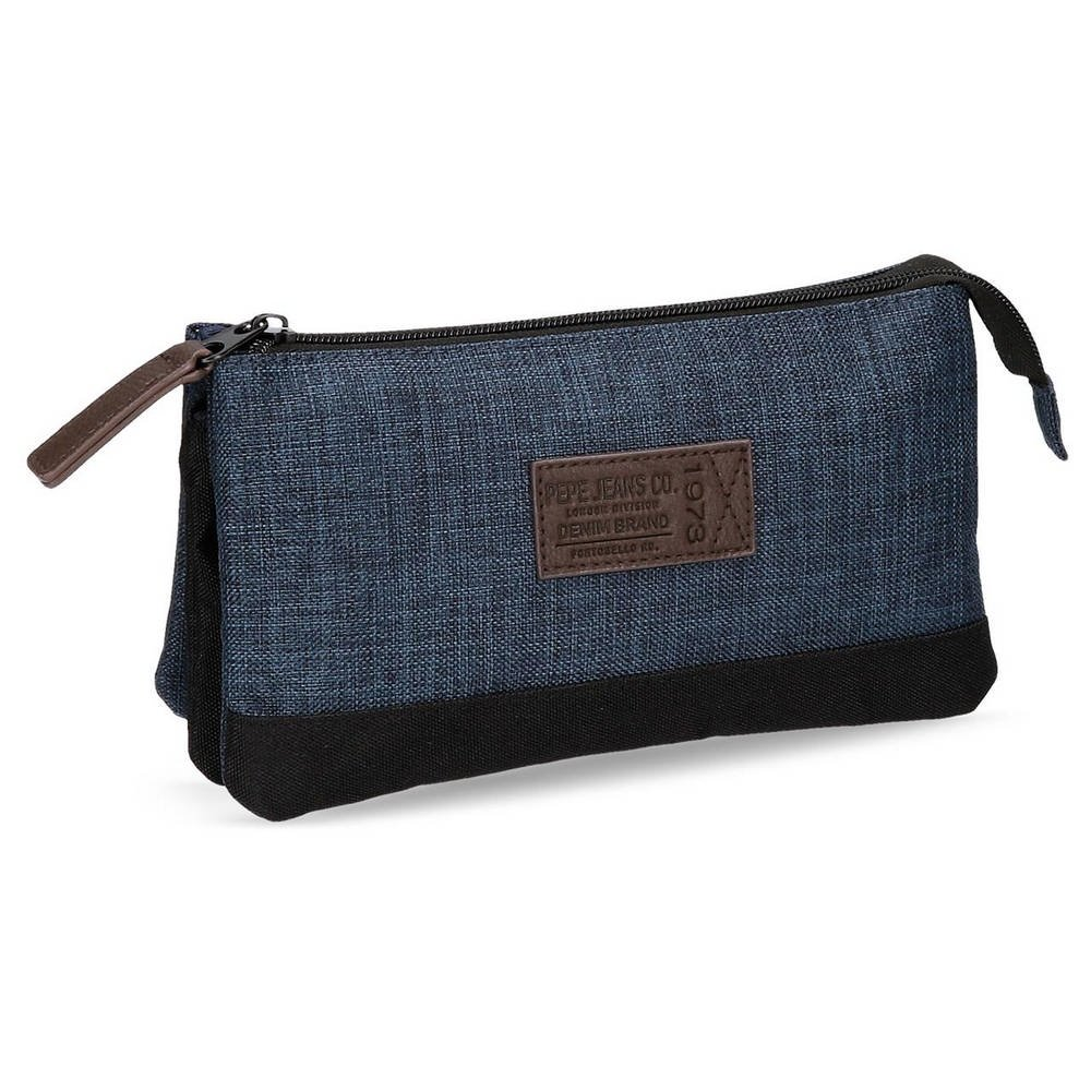 Trousse 3 compartiments Worn 73 Blue Bleu PEPE JEANS 6294351 6294351.0_Azul