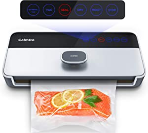 CalmDo Vacuum Sealer Machine, Food Vacuum Air Sealing System with Full Automatic Bag Sealing Technology for Food Saver Storage, CD-V001