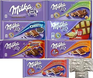 Amazon.com : Assorted 7 Milka Chocolate (Oreo, Alpine Milk, LU ...