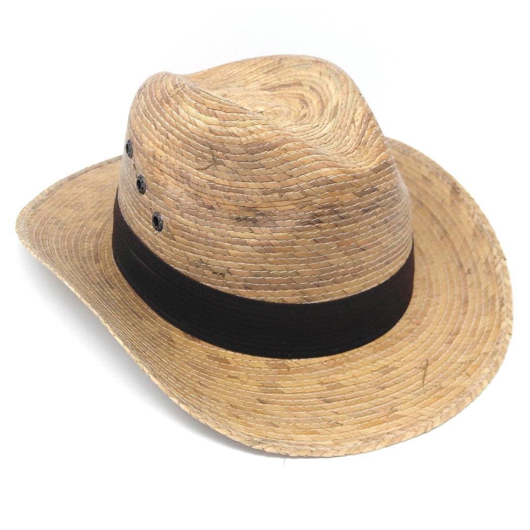 MWS Spanish Gaucho Hats Mexican Palm Leaf Straw Short Brim Cowboy Hat (Tan)