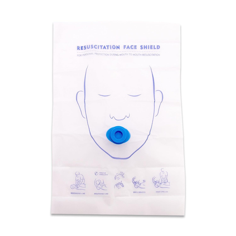 人工呼吸用マスク 一方向弁付き 吹き込み口:丸型【100個】フェイスシールドマスク 応急救護用マスク 感染防止   B0799F1NMW