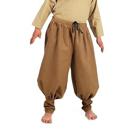 Medieval lino Kinderhose criado caballero marrón marrón ...
