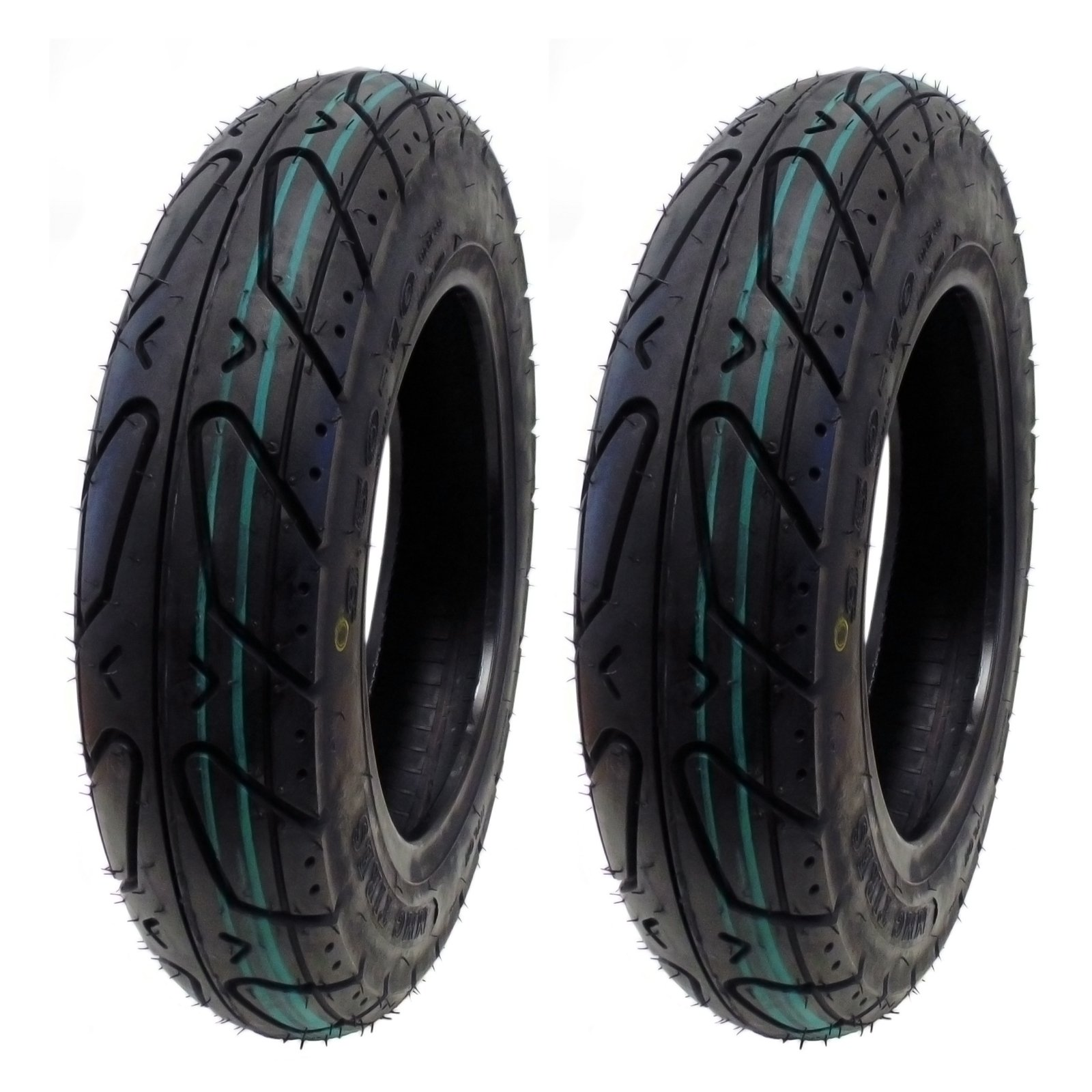 MMG Set of 2 Scooter Tubeless Tires 3.50-10 Front or Rear, Fits on 10 Inch Rim by MMG