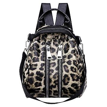Bolsos Mujer Mochila Estampado de Leopardo Casual,Gusspower Moda Bolso de Hombro PU Bolsas de Mensajero niñas Señoras: Amazon.es: Deportes y aire libre