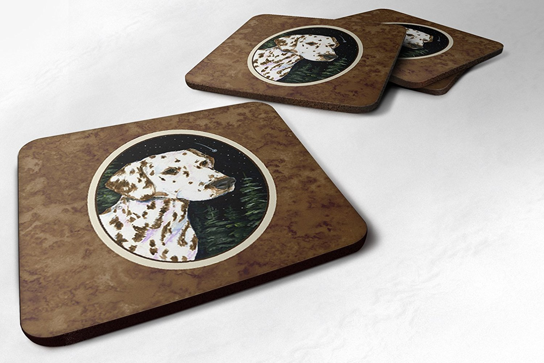 Multicolor 3.5 H x 3.5 W Carolines Treasures SS8518FC Starry Night Dalmatian Foam Coasters Set of 4 Set of 4