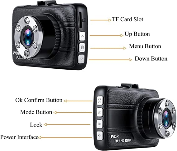 Dash Cam,Hliwoynes 3.0 Screen,150 Degree Wide Angle,Full HD 1080P Loop Recording,Night Vision, Car Dashboard Camera Vehicle On-Dash Video Recorder Camcorder with G-Sensor