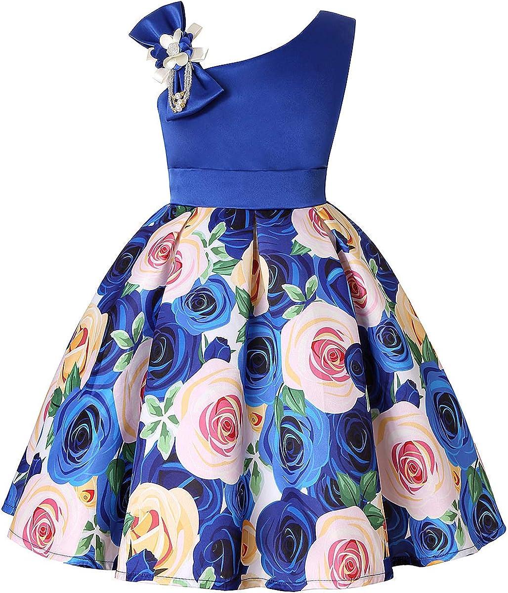 NSSMWTTC 7-7 Years Flower Girls Dresses Kids Formal Floral Dress