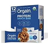 Orgain Organic Plant Based Protein Bar, Chocolate Chip Cookie Dough - Vegan, Gluten Free, Non Dairy, Soy Free, Lactose…